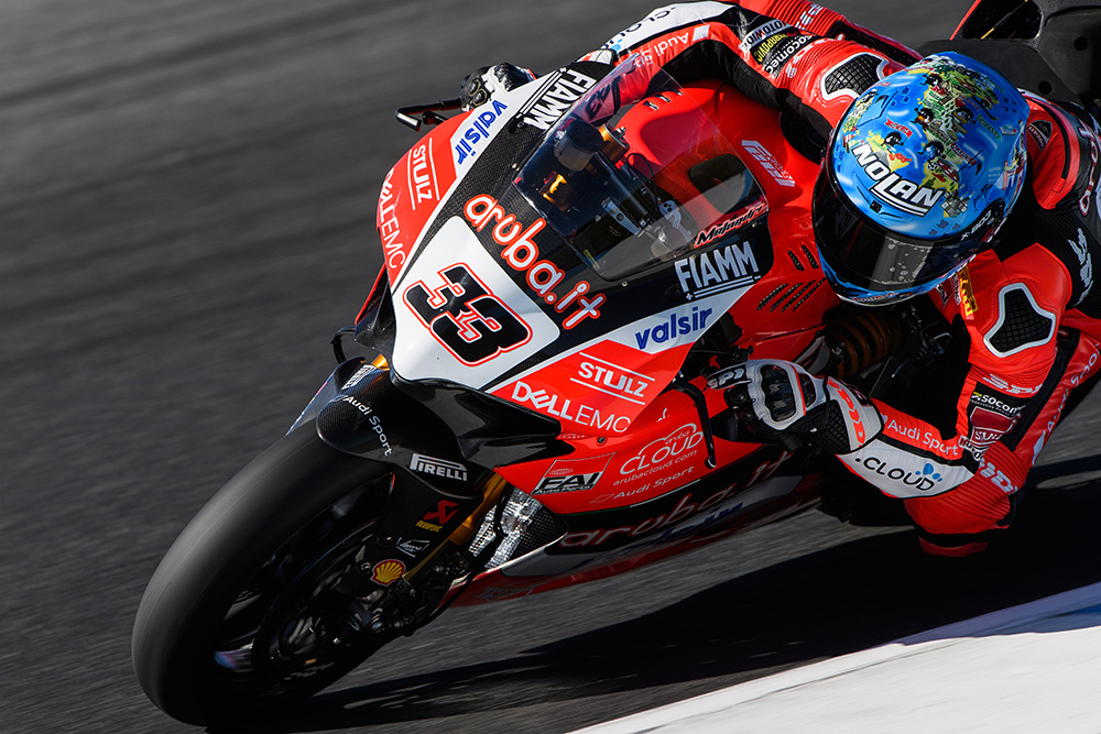 Melandri day 2 Philip Island Test
